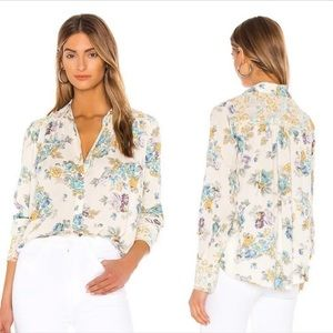 NWT Free People Hold On To Me Printed Top